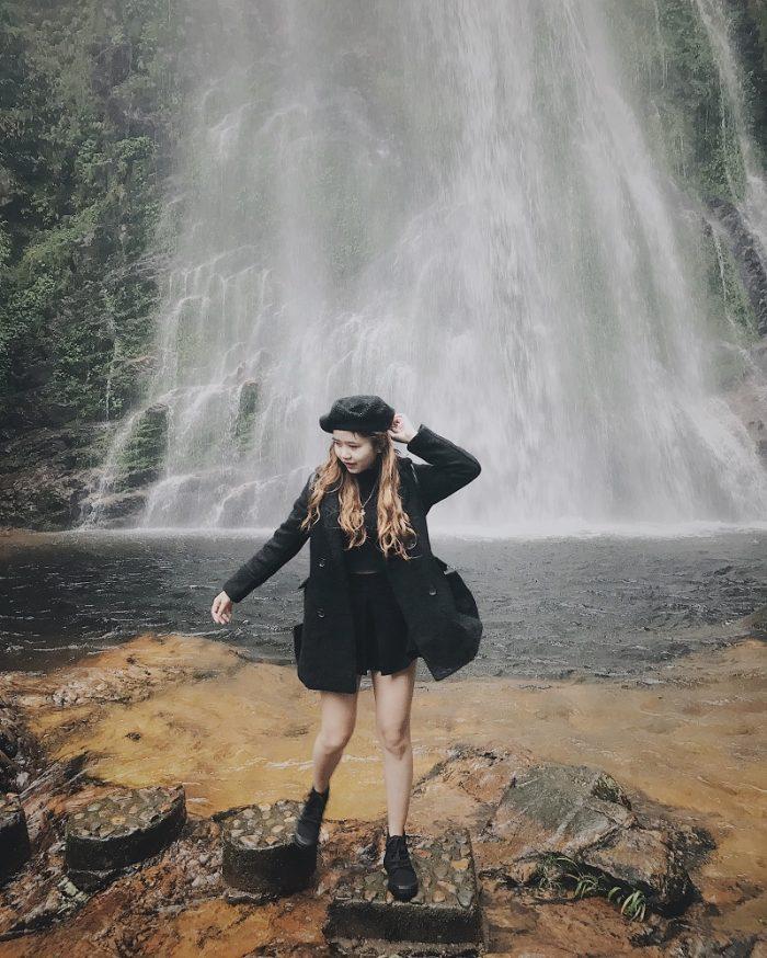 chụp hình đẹp tại thác tình yêu sapa