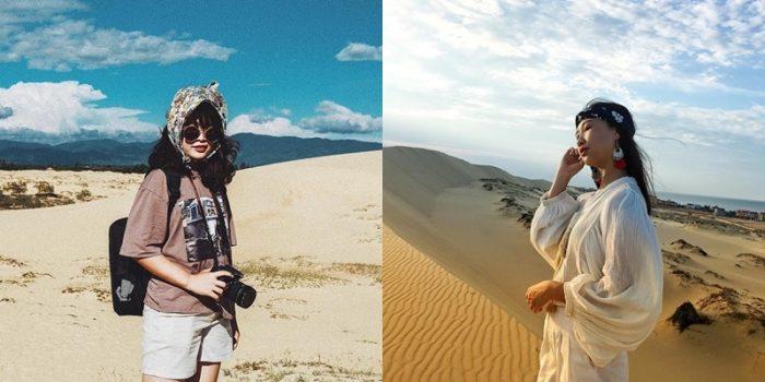 trang phục khi đi đồi cát bình thuận