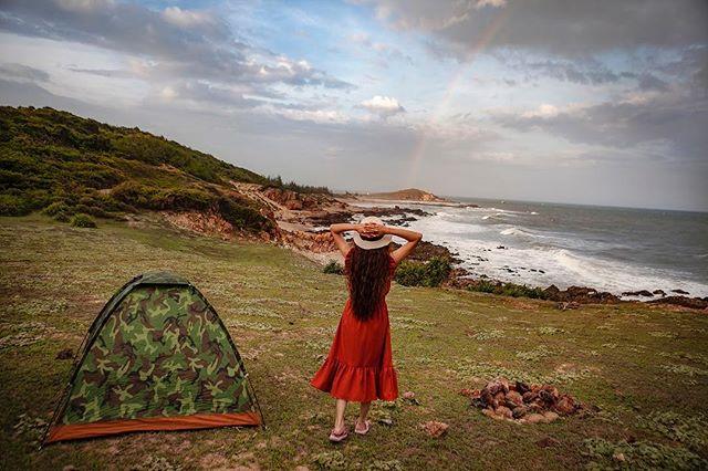 cắm trại ở Mũi Yến