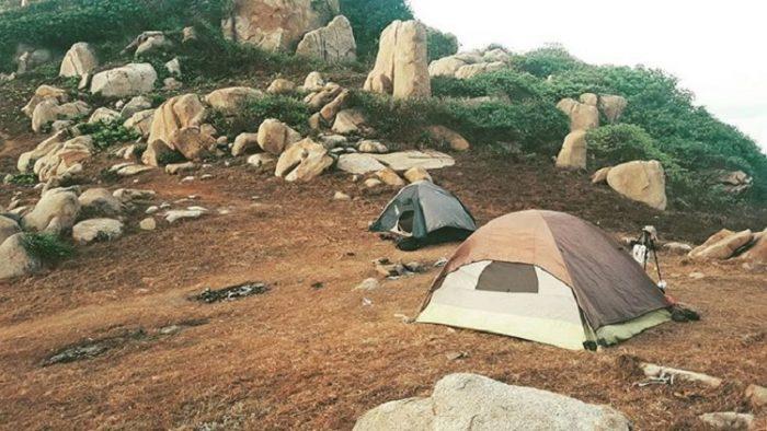 cắm trại tại mũi kê gà bình thuận